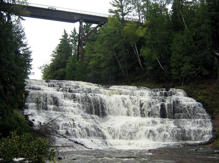 Agate Falls Upper Peninsula Of Michigan