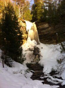Munising Falls in Winter